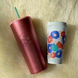 Starbucks Rose Gold Tumbler and Reusable Cup
